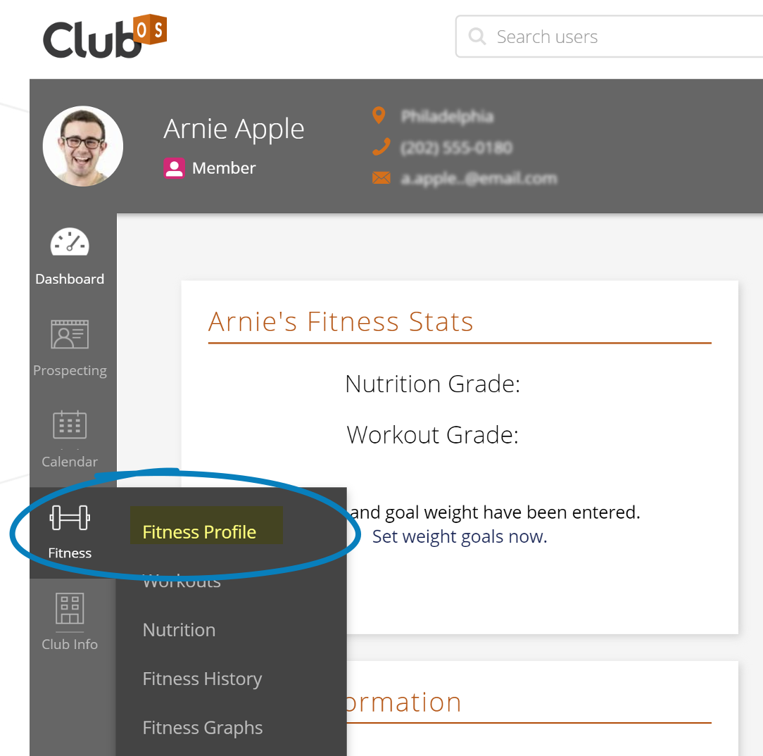 Locating the fitness profile