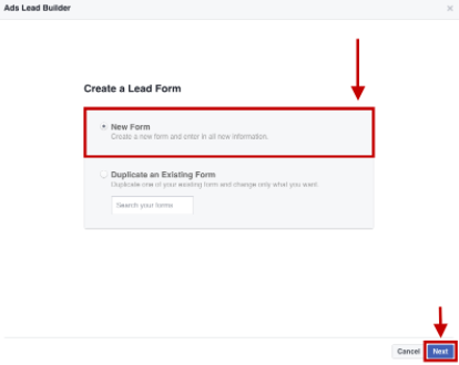 Create a Lead Form
