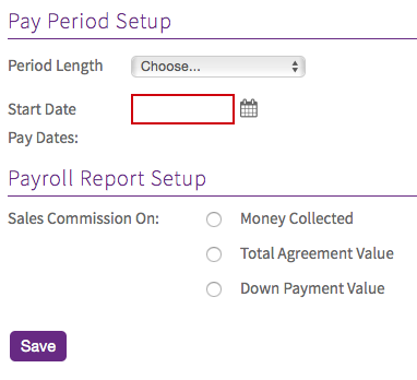 Pay Period Setup