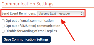 Individual member's communication settings